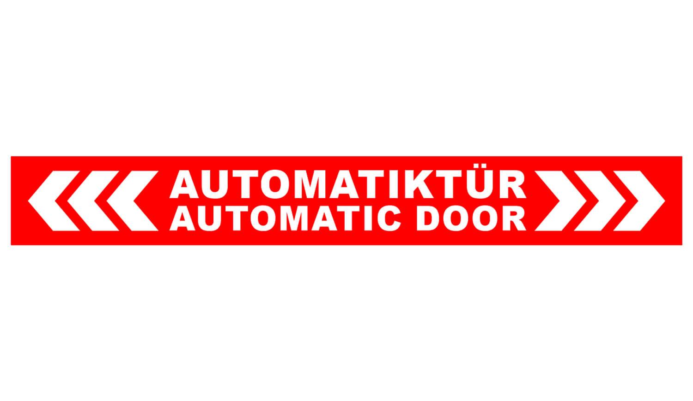 Automatiktür Aufkleber
