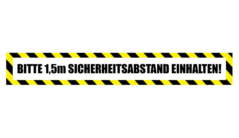 Fußbodenaufkleber Sicherheitsabstand einhalten