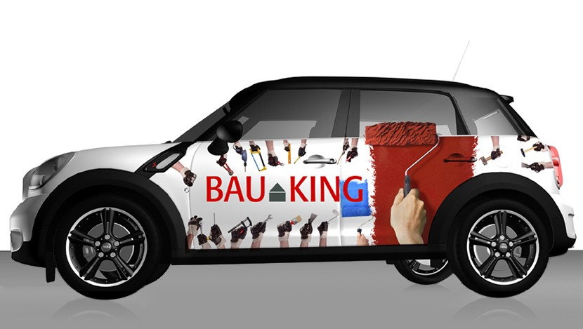 Autowerbung Bauking
