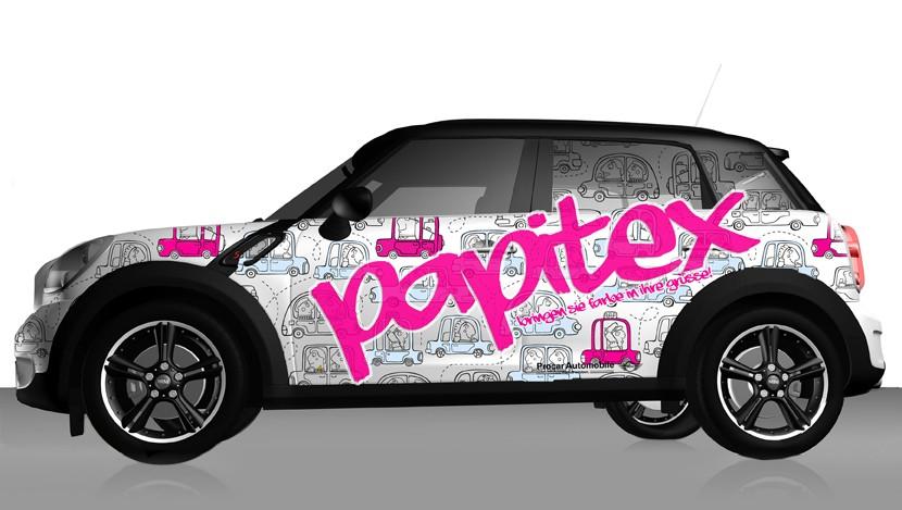 Autowerbung Papitex