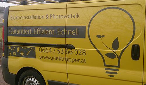 Fahrzeugbeschriftung Elektropper