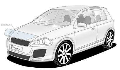 Lackschutz - Preis für Motorhaube kurz
