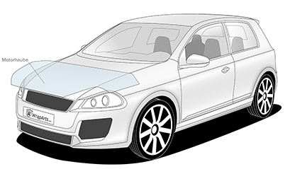 Lackschutz - Preis für Motorhaube mittel
